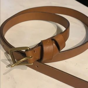 Madewell medium brown leather belt